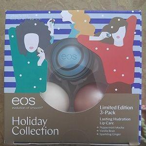 3 eos holiday edition lipbalms new